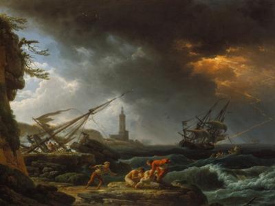 Storm at Sea by Claude Joseph Vernet