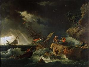 Storm at the Sea, 1740S by Claude Joseph Vernet