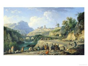 The Construction of a Road, 1774 by Claude Joseph Vernet