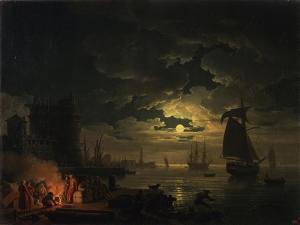 The Port of Palermo in the Moonlight, 1769 by Claude Joseph Vernet