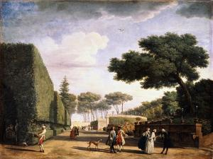 View in the Park of the Villa Pamphili in Rome, 1749 by Claude Joseph Vernet
