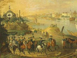 View of Warsaw with the Vistula River, Poland 19th Century by Claude Joseph Vernet
