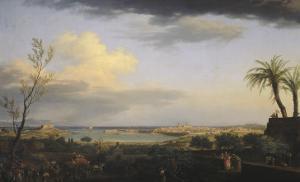 Vue de la rade d'Antibes by Claude Joseph Vernet