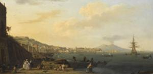 Vue de Naples avec le Vésuve by Claude Joseph Vernet