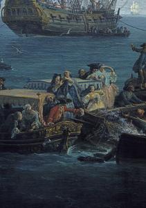 Vue du Golfe de Bandol, pêche au thon by Claude Joseph Vernet
