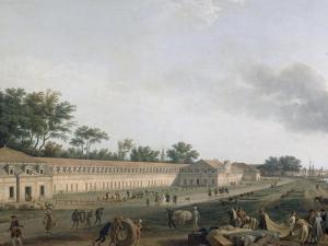 Vue du port de Rochefort by Claude Joseph Vernet