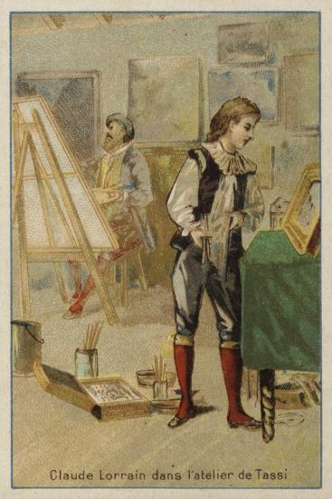 Claude Lorrain, French Painter, in the Studio of Agostino Tassi, Rome--Giclee Print