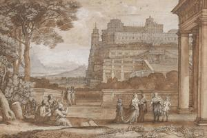 Queen Esther Approaching the Palace of Ahasuerus, 1658 by Claude Lorrain