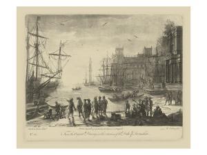 Antique Harbor II by Claude Lorraine