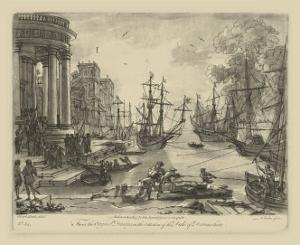 Antique Harbor V by Claude Lorraine