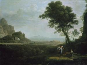 Hagar and Ismael in the Desert by Claude Lorraine