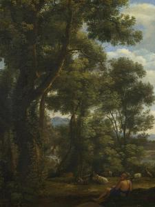 Landscape with a Goatherd and Goats, Ca 1637 by Claude Lorraine