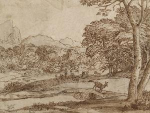 Landscape with a Herd of Deer by Claude Lorraine