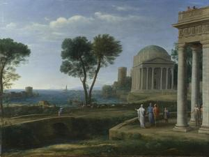 Landscape with Aeneas at Delos, 1672 by Claude Lorraine