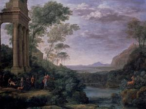Landscape with Ascanius Shooting the Stag of Sylvia, 17th Century by Claude Lorraine