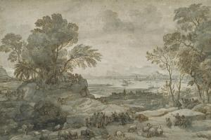 Landscape with Christ Preaching the Sermon on the Mount by Claude Lorraine