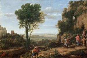 Landscape with David at the Cave of Abdullam, 1658 by Claude Lorraine