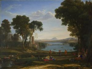 Landscape with the Marriage of Isaac and Rebecca, 1648 by Claude Lorraine