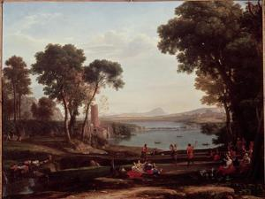Landscape with the Marriage of Isaac and Rebekah (The Mill) 1648 by Claude Lorraine