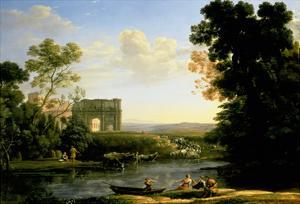 Pastoral Capriccio with the Arch of Constantinople by Claude Lorraine