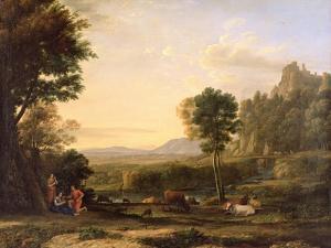 Pastoral Landscape, 1645 by Claude Lorraine