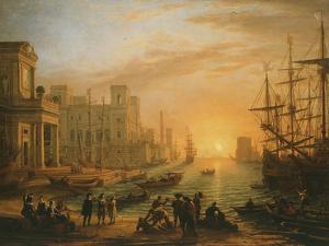 Port De Mer Au Soleil Couchant (Sea Port with Setting Sun), 1639 by Claude Lorraine