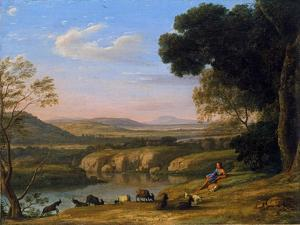 River Landscape with Goatherd by Claude Lorraine