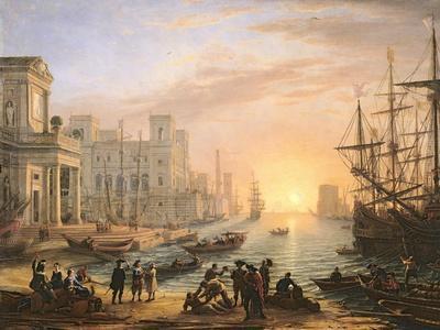 Sea Port at Sunset, 1639