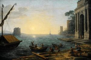 Seaport at Sunrise, 1674 by Claude Lorraine