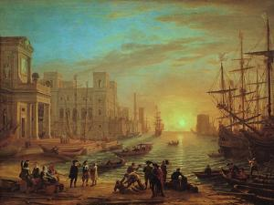 Seaport at Sunset, 1639 by Claude Lorraine