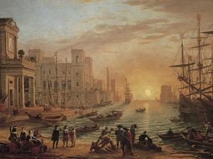 Seaport at Sunset by Claude Lorraine