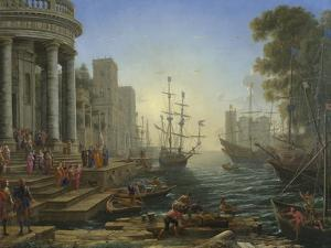 Seaport with the Embarkation of Saint Ursula, 1641 by Claude Lorraine