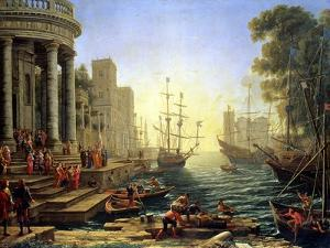 Seaport with the Embarkation of St. Ursula by Claude Lorraine