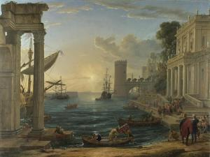 Seaport with the Embarkation of the Queen of Sheba, 1648 by Claude Lorraine