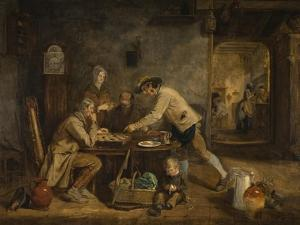 The Draught Players, 1844 by Claude Lorraine