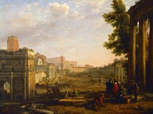 View of the Campo Vaccino, Rome, 1636 by Claude Lorraine