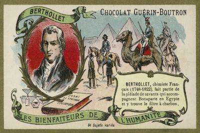 Claude Louis Berthollet, French Chemist--Giclee Print