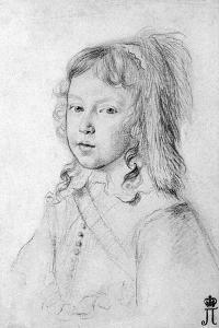 Portrait of the King Louis XIV as a Child, 1644 by Claude Mellan