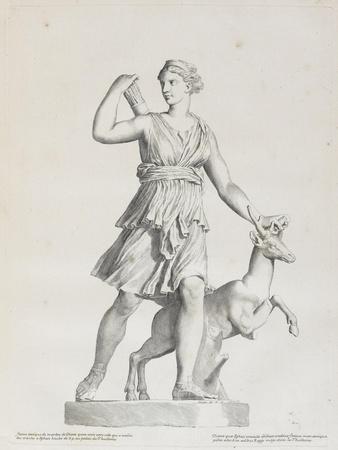 Tableau du Cabinet du Roi, statues et bustes antiques des Maisons Royales Tome I : planche 7