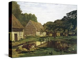 A Farmyard in Normandy by Claude Monet
