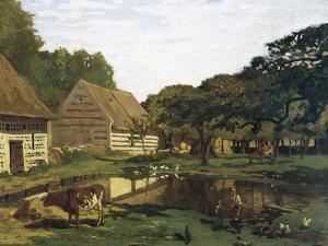 A Farmyard in Normandy by Claude Monet