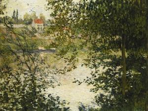 A View Through the Trees of La Grande Jatte Island; a Travers Les Arbres, Ile De La Grande Jatte,… by Claude Monet