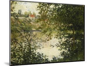 A View Through the Trees of La Grande Jatte Island by Claude Monet