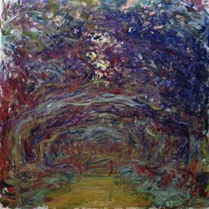 Alley of Roses in Giverny by Claude Monet