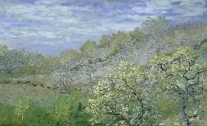 Arbres En Fleurs by Claude Monet