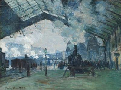 Arrival of the Normandy Train, Gare Saint-Lazare by Claude Monet by Claude Monet