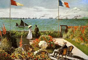 Balcony on the Sea at Saint Adresse by Claude Monet