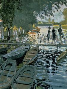 Bathers at La Grenouillere, 1869 (Detail) by Claude Monet