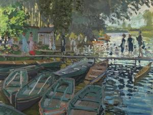 Bathers at La Grenouillere, 1869 by Claude Monet