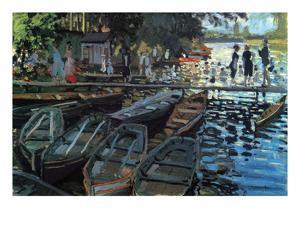 Bathers at La Grenoullière by Claude Monet